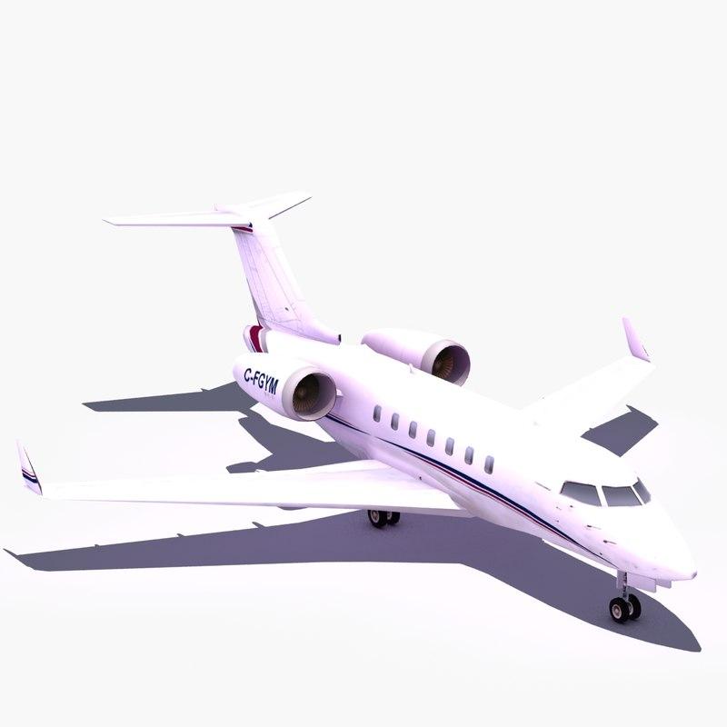 3d model bombardier challenger business jet