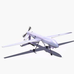 rq1 predator drone uavs 3d 3ds