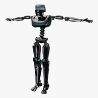 3d robot android
