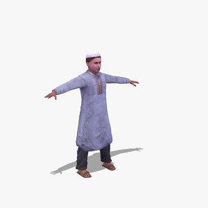 arab child 3d model