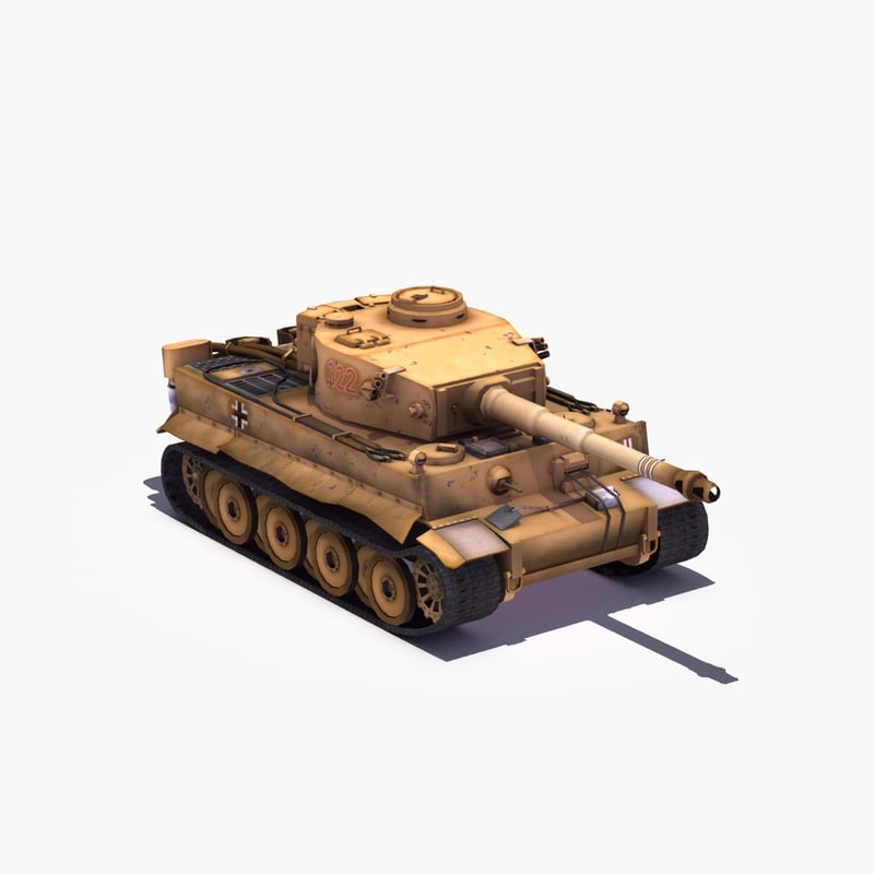 3d model pzkpfw tiger heavy tank