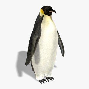 3d penguin fur model