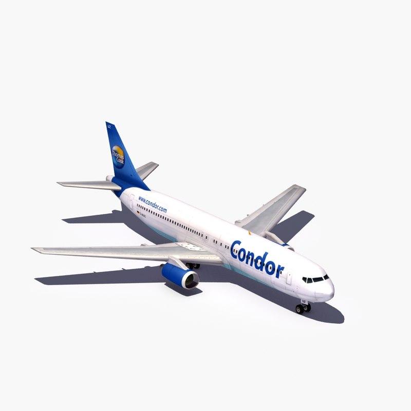 commercial 767 300 3d model