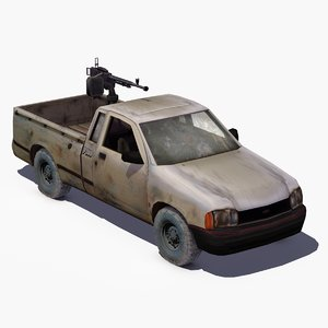 4x4 pickup truck technical 3d model