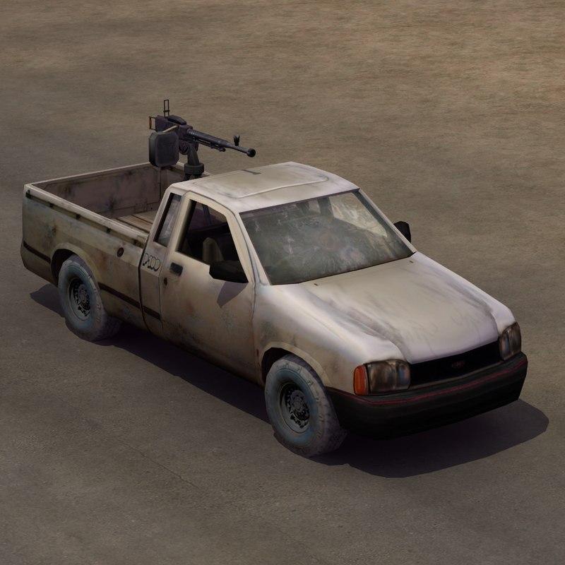 4x4 pickup truck technical 3d model