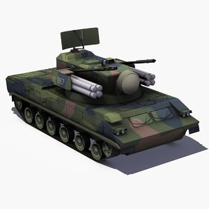 3ds sa19 tunguska vehicle