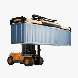 toyota forklift container 3d max