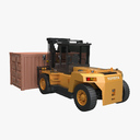 Forklift 4FD & Small Container