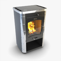 SiberStove Long-Burning Heating And Cooking Stove And Fireplace Fired With Wood Yangelka