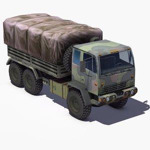 3d m1083 army truck mtv model