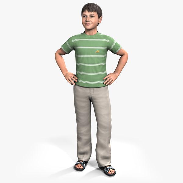 3d model ben 9-13 year boy