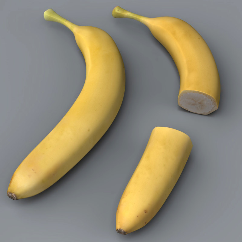 3d banana split resolution model