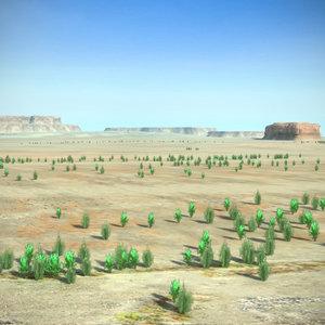 max scene desert mountains landscape