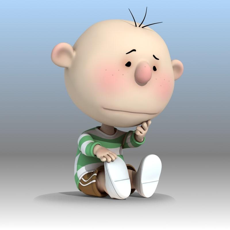 max rigged cartoon kid pink