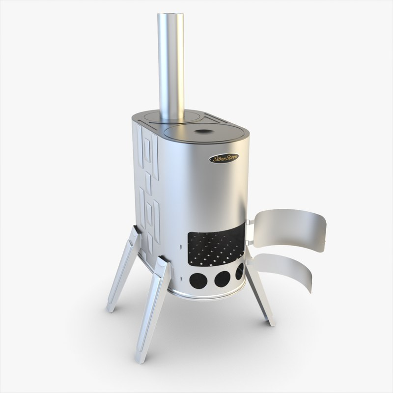 3ds max stove siber wood