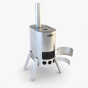 3ds max stove siber wood