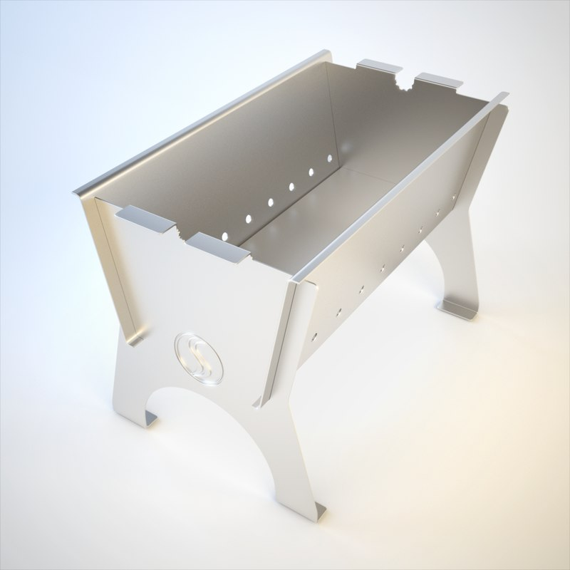 3ds max stove siber grill
