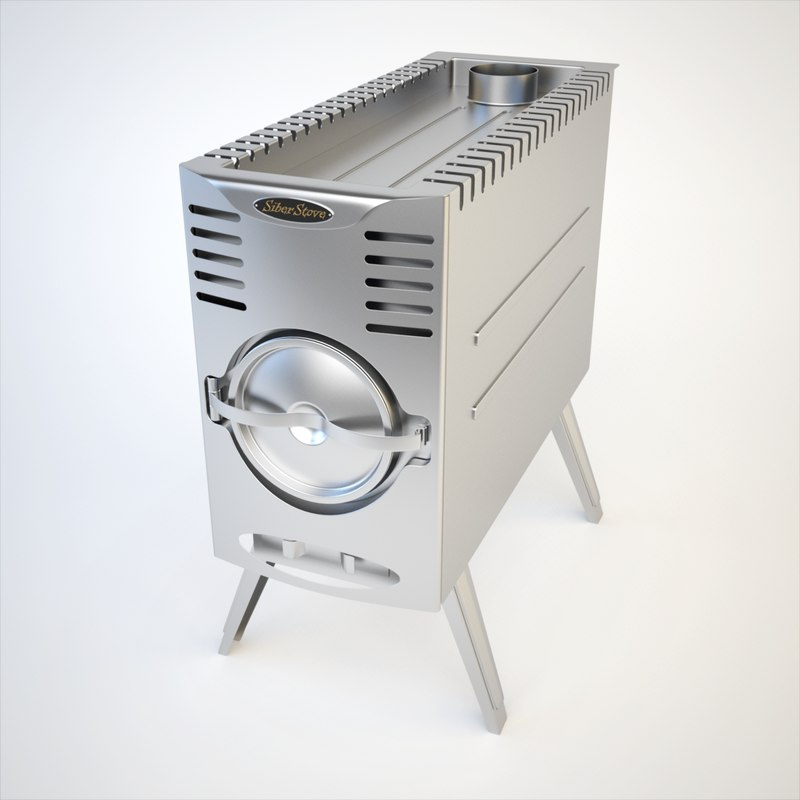 3d max stove siber wood