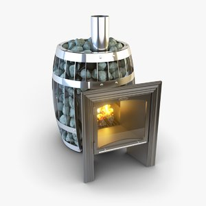 3ds max stove wood sauna