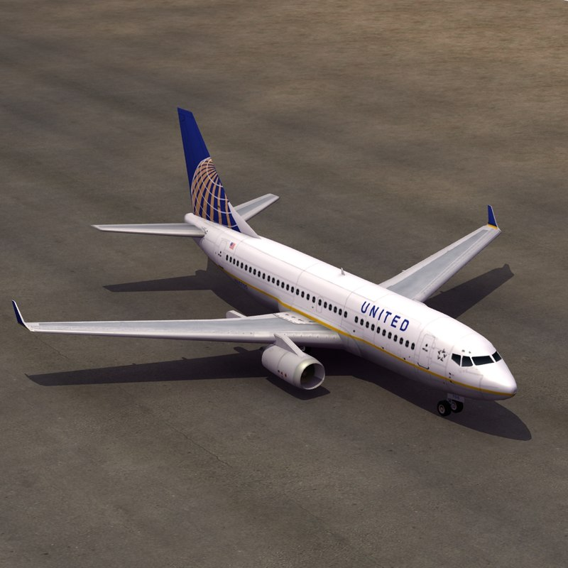 united airline 3d max