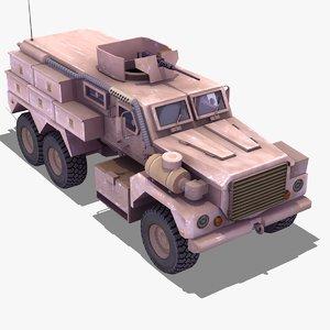 cougar 6x6 mrap truck 3d 3ds
