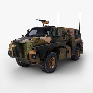 bushmaster mobility vehicle 3d max