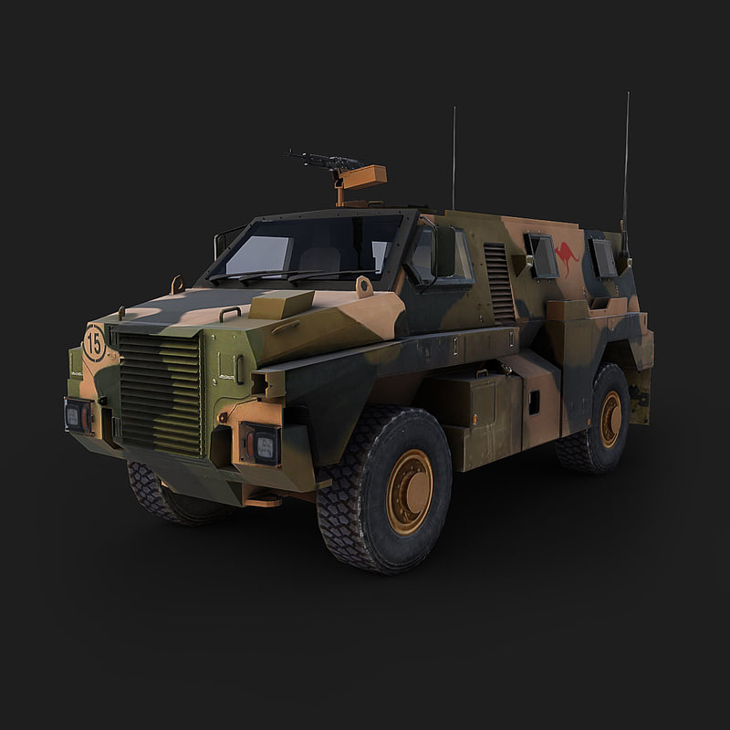 bushmaster mobility vehicle 3d max