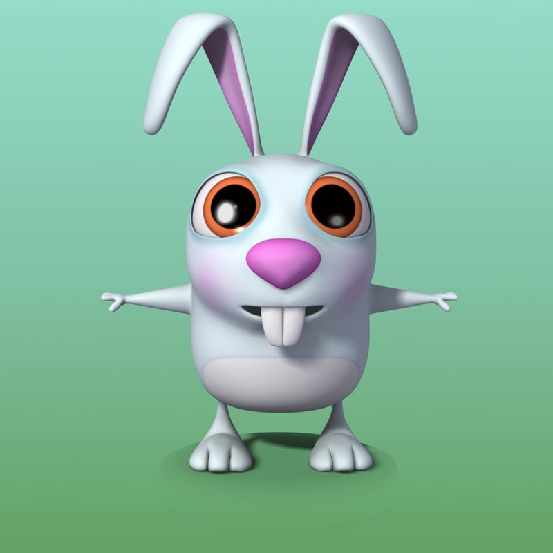 3d model cartoon bunny