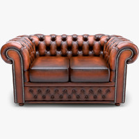 classic chesterfield loveseat chester 3d max