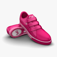 hot pink sport shoes 3d model