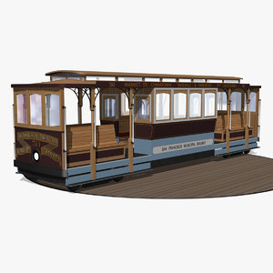 3d 3ds cable car