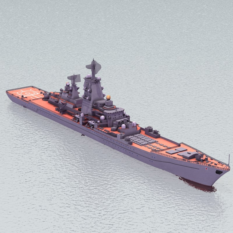kirov battlecruiser cruiser 3d model