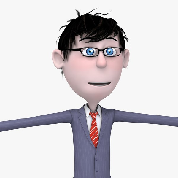 3d young cartoon guy