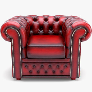 3ds max classic chesterfield armchair chester