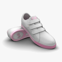 3ds max white light pink sport shoes