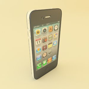 3d apple iphone 4 gsm model