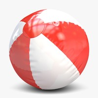 3d model beach ball beachball