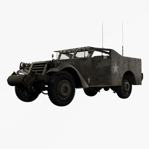 3d united states wwii m3a1 model