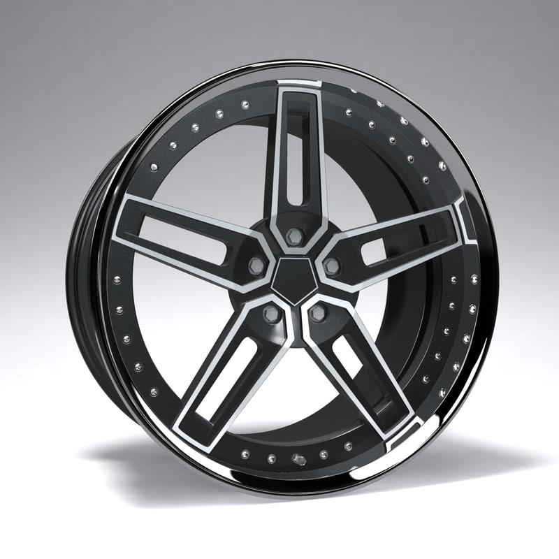 prototype racing wheel 3d model