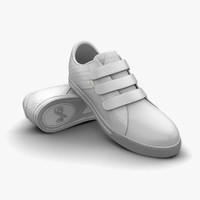 white light grey sport shoes 3d c4d