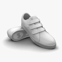 white light grey sport shoes 3d c4d