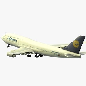 boeing 747-8i airplanes 747 3d model