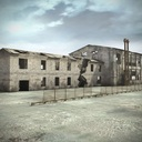 Ruin Building Hangar Warehouse