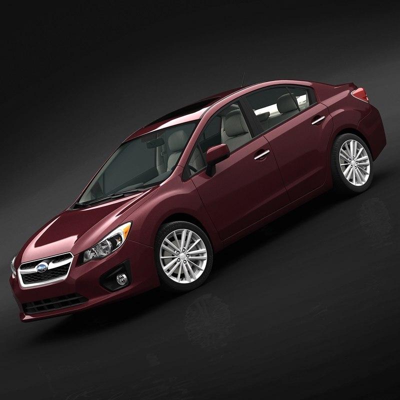 3d model of 2012 subaru impreza sedan