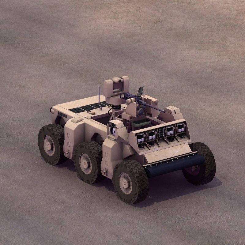 crusher military robotics reconnaissance 3d max