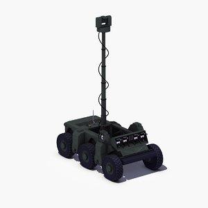 crusher vehicle robot ugv 3ds