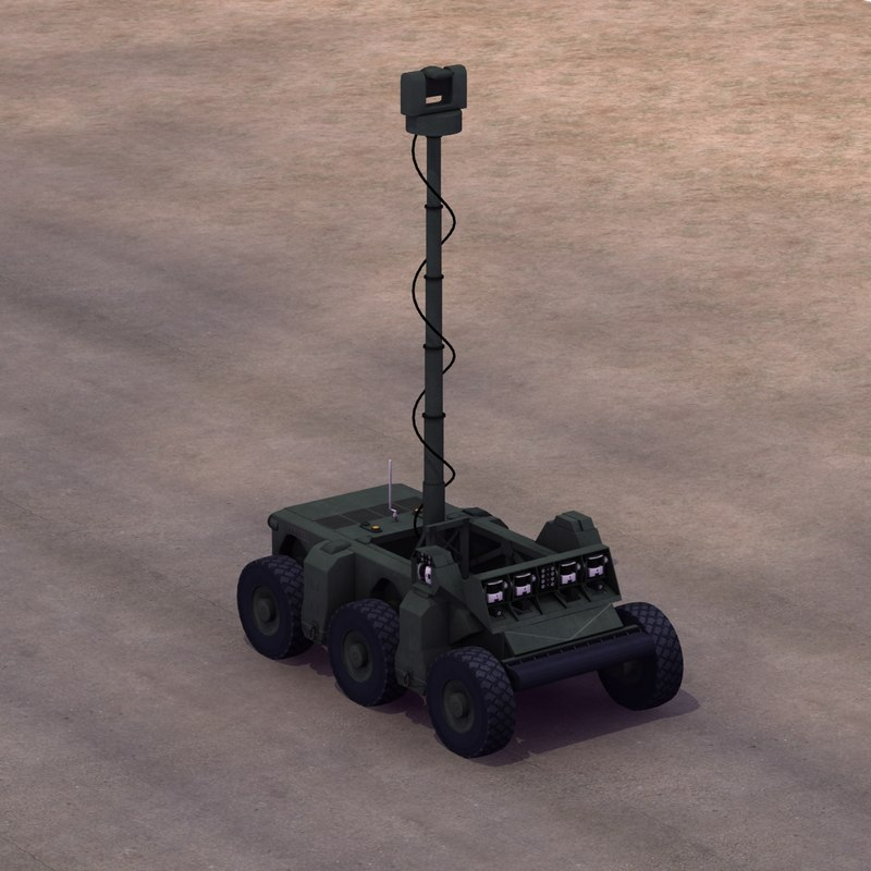crusher vehicle robot ugv 3ds
