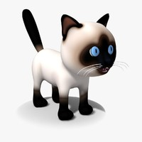 3d model cat cartoon kitty