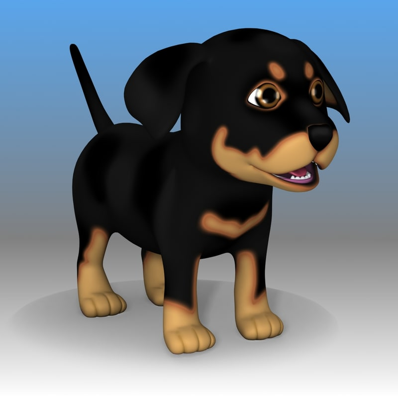 3ds max dog doggy rottweiler