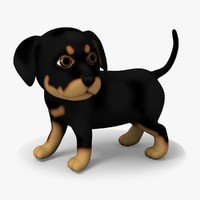 Rigged Cartoon Doggy 04 Rottweiler
